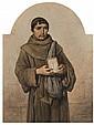 Théodore Valerio Forges-de-Herserange, 1819 - Vichy, 1879 Moine palermitain Aquarelle sur trait de crayon noir,