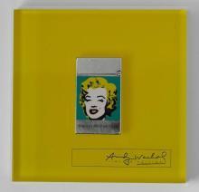 DUPONT, Briquet Marilyn Monroe 1964 en hommage à Andy Warhol, Ligne 2 grand modèle, édition limitée de 2004, numéroté  1019/1964. Et...