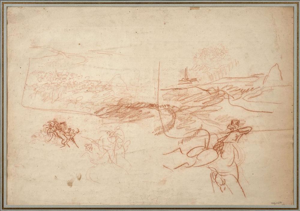Antoine-Jean Gros, baron Gros Paris, 1771 - Meudon, 1835 Etudes pour le Combat de Nazareth Sanguine