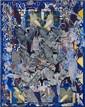 François ROUAN (né en 1943) CONSTELLATION-TABOUEE N°I , 1992-1993 Huile et cire sur toile