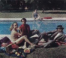 ¤ Alain JACQUET (1939 - 2008) LE DEJEUNER SUR L'HERBE - 1964 Quadrichromie cellulosique sur papier marouflé sur toile (diptyque)