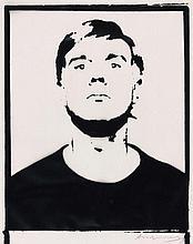 Andy WARHOL (1928 - 1987) SELF-PORTRAIT - 1964 Encre sérigraphique sur feuille de papier calque