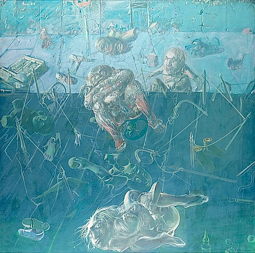 DADO (né en 1933) JEUX D'ENFANTS, 1971 huile sur toile