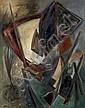 Henri GOETZ (1909-1989) COMPOSITION, 1949 Huile sur panneau d'isorel