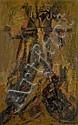 Selim TURAN (1915-1994) SANS TITRE Huile sur toile marouflé sur panneau
