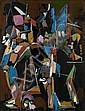 André LANSKOY (1902-1976) COMPOSITION Gouache sur papier
