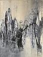 Krishen KHANNA (né en 1925) ON THE FRINGE, 1962 Huile sur toile