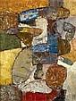 Jacques DOUCET (né en 1924) COMPOSITION, 1955 Huile sur toile