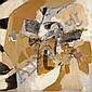 Albert BITRAN (né en 1929) VOISINAGE NOIR, 1973 Technique mixte sur papier marouflé sur toile