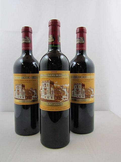 3 bouteilles 1 bt : CHÂTEAU DUCRU BEAUCAILLOU 2002 2è GC Saint Julien