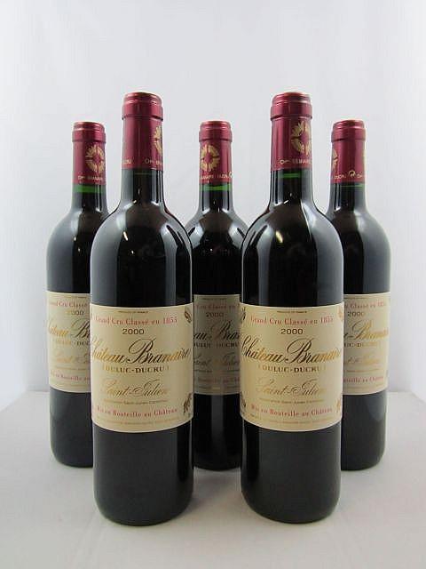5 bouteilles CHÂTEAU BRANAIRE DUCRU 2000 4è GC Saint Julien
