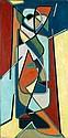 James PICHETTE (1920-1996) TOTEM II, 1951 Huile sur toile