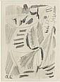 André LANSKOY (1902-1976) COMPOSITION Dessin au crayon sur papier