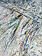 Jacques GERMAIN (1915-2001) COMPOSITION Huile sur toile agrafée sur panneau