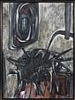Ruth FRANCKEN (né en 1924) FRAGMENTS D'UN ENFER, 1956 Acrylique sur toile