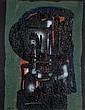 Ladislas KIJNO (1921-2012) COMPOSITION ABSTRAITE Acrylique sur papier froissé