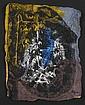 Ladislas KIJNO (1921-2012) SANS TITRE Technique mixte sur papier kraft froissé