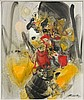 CHU TEH CHUN (1920-2014) SIGNES IMPERATIFS - 1991 Huile sur toile