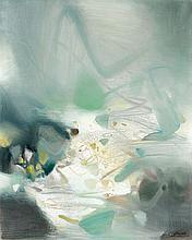 CHU TEH CHUN (1920-2014) QUE MA JOIE DEMEURE - 1984 Huile sur toile