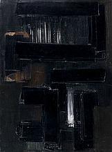 Pierre SOULAGES (né en 1919) PEINTURE 81 X 60 CM, 20 JUIN 1956 Huile sur toile