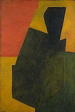¤ Serge POLIAKOFF (1900-1969) COMPOSITION ABSTRAITE - 1951 Huile sur toile