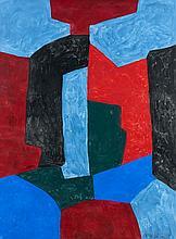 Serge POLIAKOFF (1900-1969) COMPOSITION ABSTRAITE - 1969 Gouache sur papier