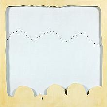 Lucio FONTANA (1899-1968) CONCETTO SPAZIALE, TEATRINO - 1966 Peinture sur toile et bois laqué