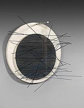 Jesus Rafael SOTO (1923-2005) ANELLO - 1967 Métal, nylon et panneaux de bois peints