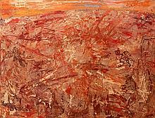 Jean DUBUFFET (1901-1985) L'ESPLANADE ROSE - 1953 Huile sur toile