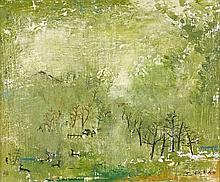ZAO WOU- KI (1920-2013) 18.12.49 - 1949 Huile sur carton toilé