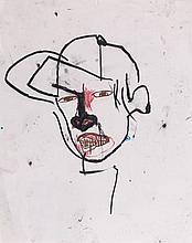 Jean-Michel BASQUIAT (1960-1988) SANS TITRE - 1987 Crayons gras sur papier