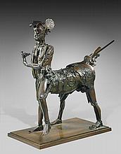 CESAR (1921-1998) LE CENTAURE (HOMMAGE A PICASSO) - 1983-87 Bronze soudé