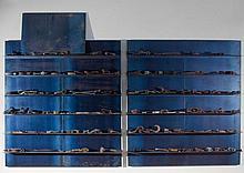 Jannis KOUNELLIS (né en 1936) SANS TITRE (DIPTYQUE) - 1994 Plaques en acier et éléments en divers matériaux