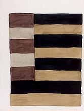 Sean SCULLY (Né en 1945) SANS TITRE - 1997 Aquarelle et crayon sur papier
