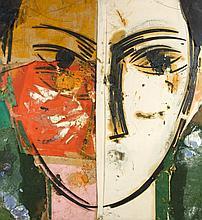 Manolo VALDES (Né en 1942) JACKIE V - 2003 Technique mixte sur toiles de jute et de lin
