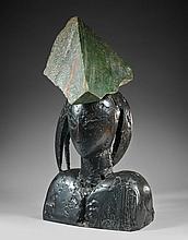Manolo VALDES (Né en 1942) YVONNE X - Circa 2000 Bronze et marbre