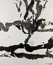 ZAO WOU- KI (1920-2013) SANS TITRE - 2003 Encre de Chine sur papier marouflé sur papier