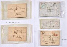 France et divers - Ensemble de marques postales principalement de la première moitié du XIXe siècle - Ensemble de lettres affranchie...