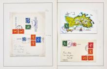 Iles anglo-normandes - Postes privées,  Petite collection de 44 Plis des postes privées des mini-îles anglo-normandes (Herm et Jetho...