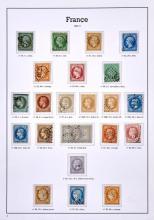 France - Ensemble de différents timbres-poste du 19e siècle, oblitérés. Tous états.