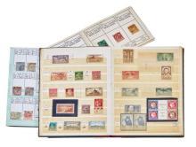 France et divers - Un cahier contenant des timbres-poste français anciens, oblitérés. Et un cahier contenant des timbres-poste ancie...