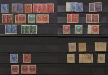 France - Timbres de la Libération. DECAZEVILLE. Timbres-poste de 1941-42, type Mercure et Pétain, surchargés en août 1944. La plupar...