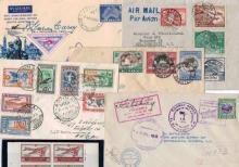 Divers poste aérienne - Timbres-poste, séries et plis de poste aérienne de divers pays étrangers dont Grèce (1933), Australie et Ind...