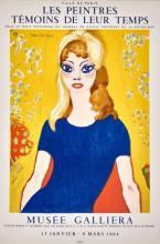 Kees van DONGEN - Les Peintres témoins de leur temps. Musée Gallira, janvier-mars 1964. Affiche originale Mourlot, 77 x 52 cm.