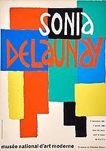 Sonia DELAUNAY (1885-1979) - Musée national d'Art moderne, décembre 1967- janvier 1968. Affiche originale, 40 x 60 cm.