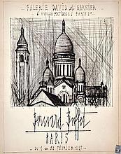 Bernard BUFFET (1928-1999) - Basilique du Sacré-Cœur, 1964. Eau forte originale, 67 x 53 cm.
