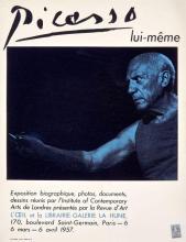 Pablo PICASSO - Exposition Galerie La Hune, mars-avril 1957. Affiche originale. 65 x 50 cm. Timbre fiscal d'affichage.
