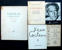 Jean Cocteau - Jean Cocteau. Thomas l'imposteur. Histoire et dessins. Edition NRF, 1927. E.O. Couverture rempliée abimée, avec dos...