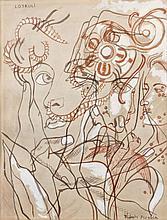 Francis PICABIA 1879 - 1953 LOTRULI - Circa 1929 Encre et gouache sur papier