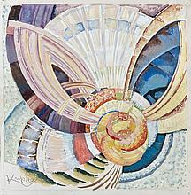 Frank KUPKA 1871 - 1957 ETUDE POUR AUTOUR D'UN POINT - Circa 1920-1925 Gouache et crayon sur papier